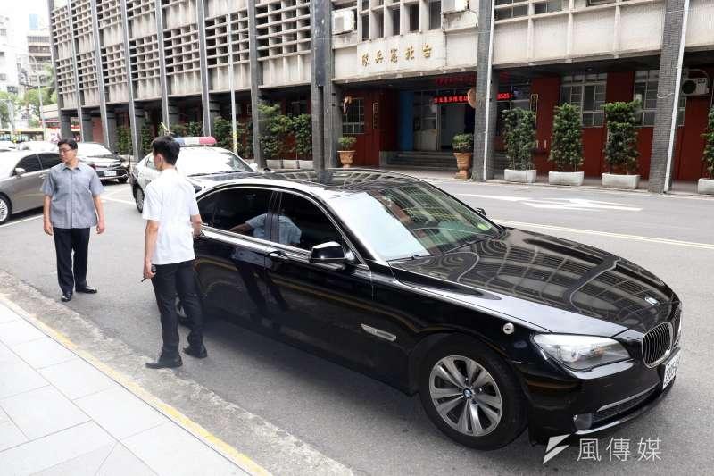 前總統馬英九的警備車輛7年期限到期後,車隊已改由Audi A8L繼續服勤。(蘇仲泓攝)