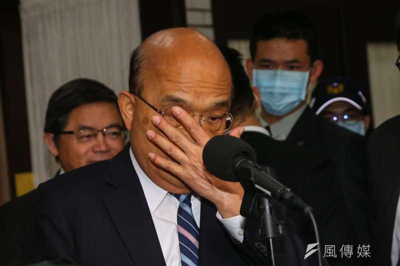 20201204-行政院長蘇貞昌4日出席立院院會。(顏麟宇攝)
