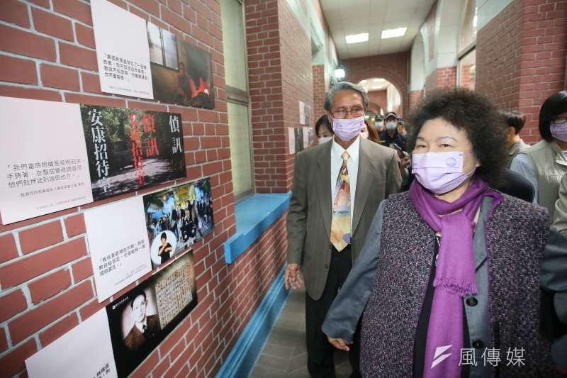 2020.12.04-監察院長陳菊(右)4日出席國際人權日主題特展 。(柯承惠攝)