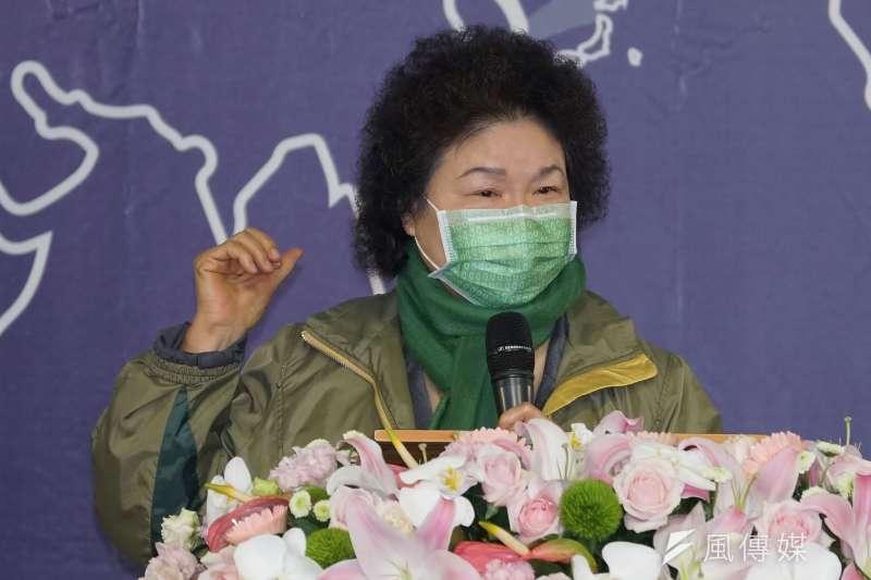 監察院長陳菊(見圖)5日出席世界人權日典禮受訪時表示,總統蔡英文目前應無內閣改組的打算。(資料照,盧逸峰攝)