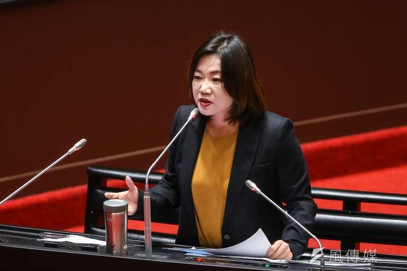 國民黨立委馬文君(見圖)表示,政府公布台灣與進口豬的比例完全不等同民眾買到或吃到萊豬的機率。(資料照,顏麟宇攝)