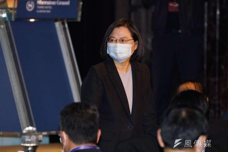 總統蔡英文9日清晨於「美國國際民主協會」發表錄影演說。(資料照,盧逸峰攝)