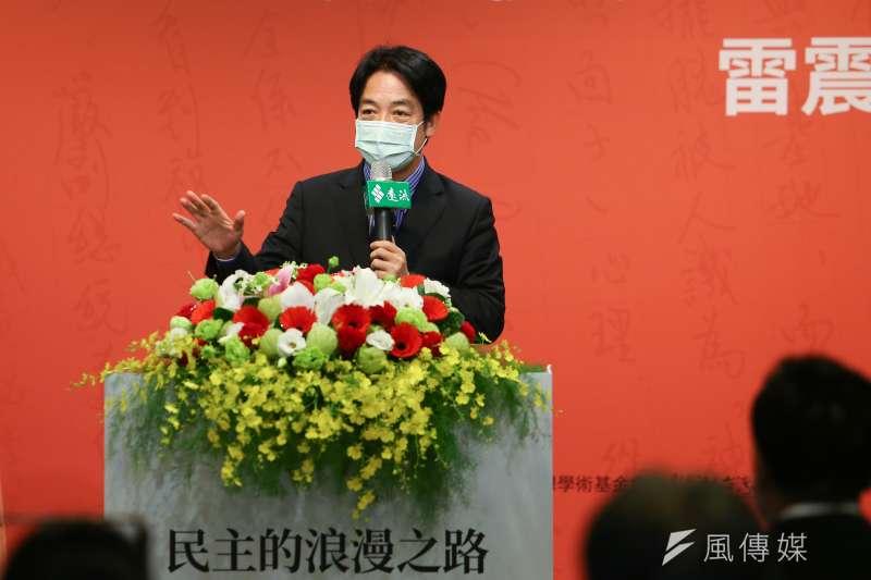 副總統賴清德(見圖)表示,台灣是主權獨立國家,主權與中國互不隸屬,這是不爭的事實。(資料照,顏麟宇攝)