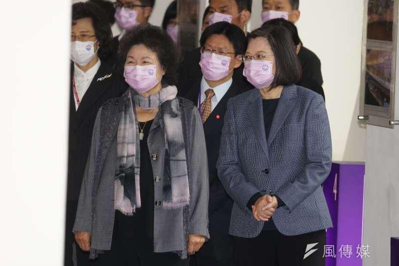 20201210-總統蔡英文、監察院長陳菊10日出席「台灣人權阿普貴( Upgrade)活動」。(盧逸峰攝)