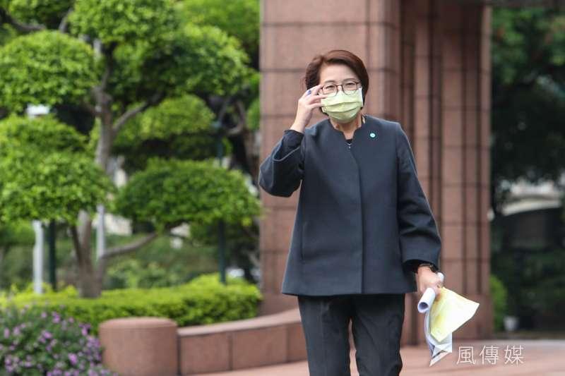 20201210-台北市副市長黃珊珊10日於行政院會後接受媒體聯訪。(顏麟宇攝)