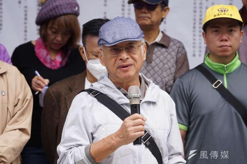 20201210-多位前黨外運動人士10日召開「世界人權日,體檢當權者」記者會,學者黃光國發言。(盧逸峰攝)