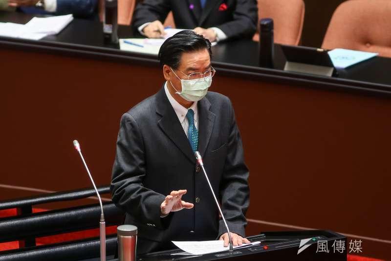 20201211-外交部長吳釗燮11日於立院備詢。(顏麟宇攝)