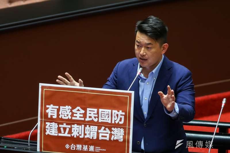 面臨罷免風暴的台灣基進立委陳柏惟,近日和國民黨市議員羅智強互嗆。(資料照片,顏麟宇攝)