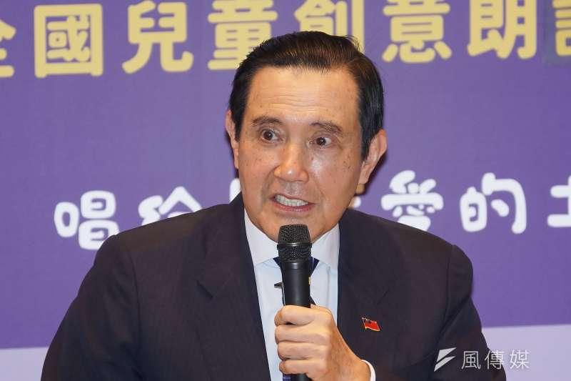前總統馬英九15日批評,萊克多巴胺仍是農委會禁用的劑品,「台灣豬都不吃的東西,要人來吃很不合理。」(資料照,盧逸峰攝)