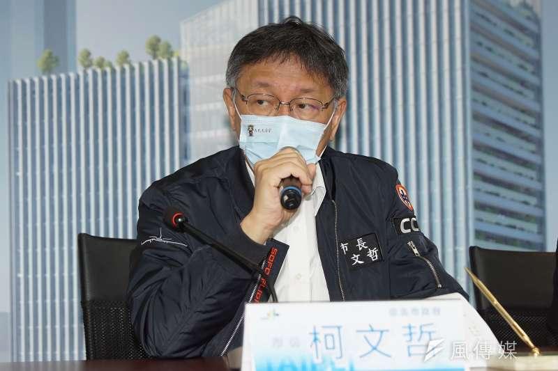 行政院長蘇貞昌引發統編風波,讓台北市長柯文哲(見圖)酸「有什麼老闆就有什麼發言人」。(資料照,盧逸峰攝)