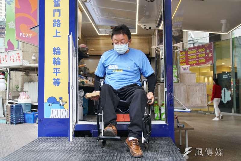 20201214-新巨輪服務協會推出無礙餐車,讓協會成員能生活自立,圖為協會理事長陳安宗。(盧逸峰攝)