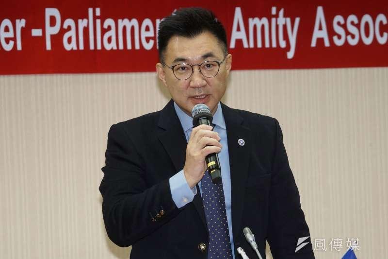 20201215-國民黨主席、立委江啟臣15日出席立法院「台灣英國國會議員交流協會」成立大會。(盧逸峰攝)