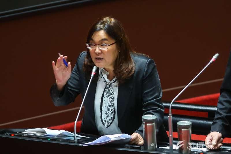 國民黨立委陳玉珍2日於立法院日針對缺水問題進行質詢。(資料照,顏麟宇攝)