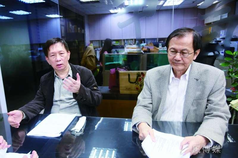 賴昇濱(左)表示,銀行偽造自己的董事會紀錄,但法官卻不採信。(柯承惠攝)