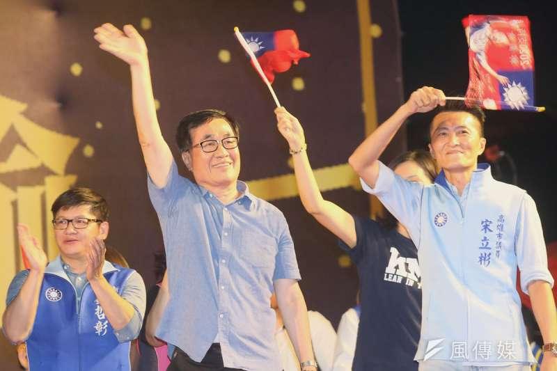 藍營屬意李四川(左)出來選下屆高雄市長,但李似乎對參選毫無興趣。(柯承惠攝)