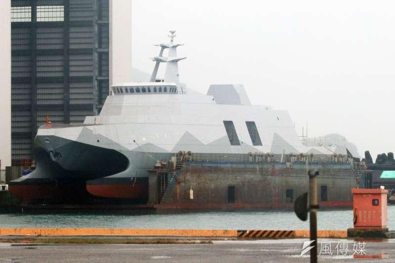 20201216-海軍「塔江艦」15日舉行命名下水典禮。(蘇仲泓攝)