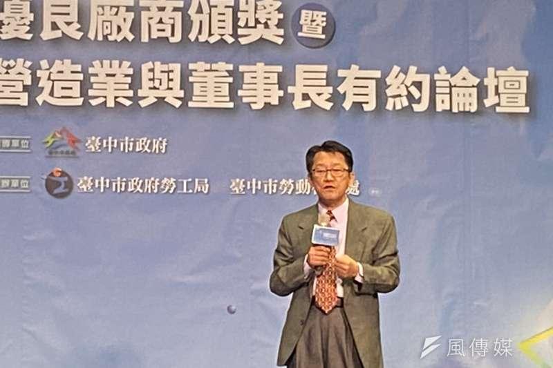 台中市府勞工局長吳威志因為曖昧風波,17日下午請辭獲準。(圖/王秀禾)
