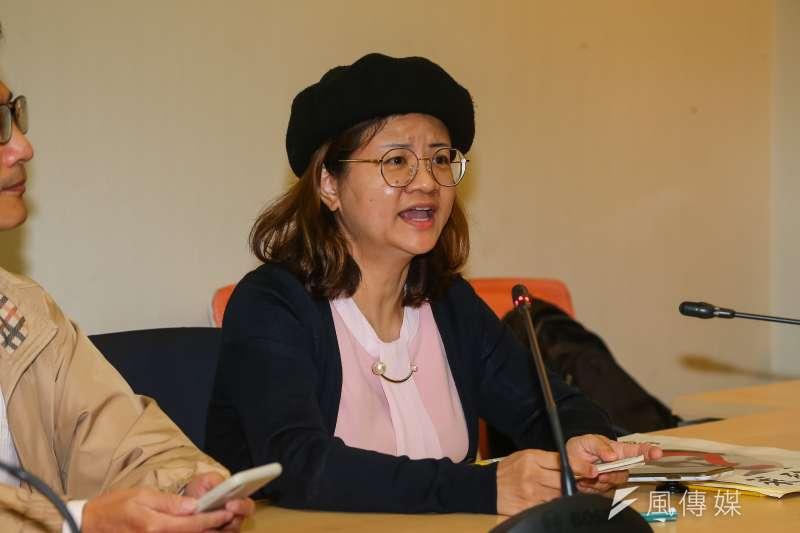 20201217-王文心博士17日出席民間反瘦肉精毒豬聯盟記者會。(顏麟宇攝)