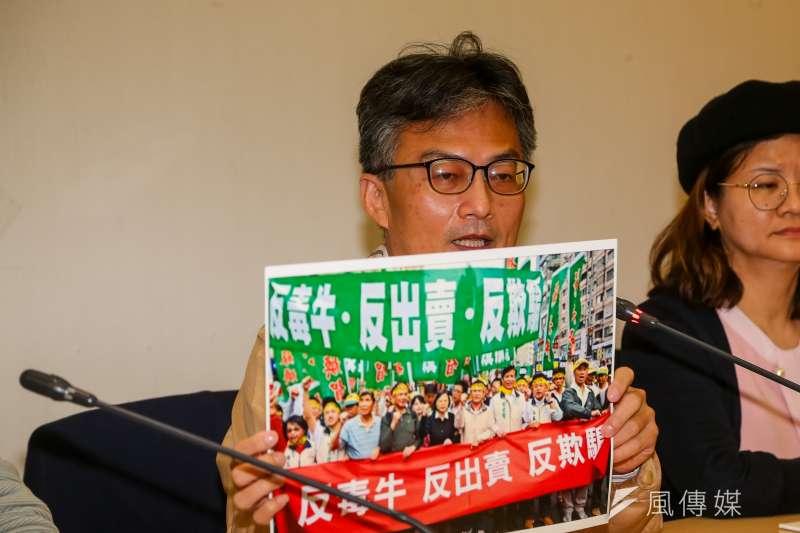 醫師蘇偉碩(見圖)因主張萊豬危害健康遭衛福部告發,國民黨議員羅智強、羅廷瑋到台北市信義分局聲援。(資料照,顏麟宇攝)