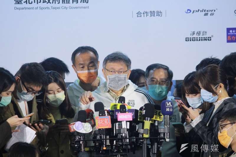 針對萊豬議題,台北市長柯文哲(見圖)認為,純粹以學術來講,醫師蘇偉碩講的有誇大的部分,但是不是有必要被傳訊,他也不曉得。(方炳超攝)