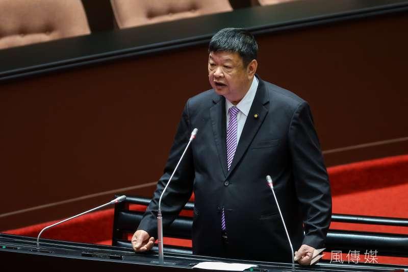 20201218-國民黨立委陳雪生18日於立院質詢。(顏麟宇攝)