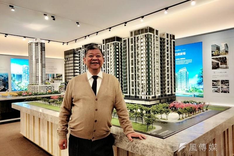 甲山林機構董事長祝文宇支持政府打炒房措施,但也認為房價仍會持續上漲。(林喬慧攝)