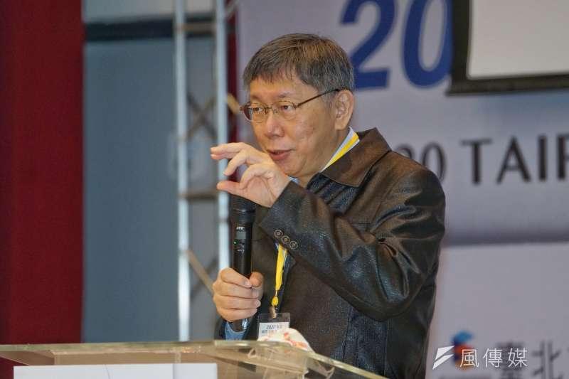 對於行政院政委羅秉成等人正式宣告有關萊劑的地方自治條例違憲並無效,台北市長柯文哲(見圖)批評,「他們現在是太上皇了,不是大法官」。(資料照,盧逸峰攝)