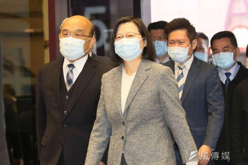 總統蔡英文、行政院長蘇貞昌在這兩天是三度同台。蘇貞昌除了先是說,在台灣,總統與行政院長最知道彼此的辛苦。(柯承惠攝)