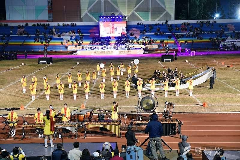全國的樂儀旗隊包括超過個7個軍校樂隊的齊聚和精彩行進演出。(圖/徐炳文攝)