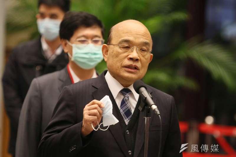 美豬投票前,蘇貞昌以同婚法案為例,勉勵黨內同志做正確的事。(柯承惠攝)