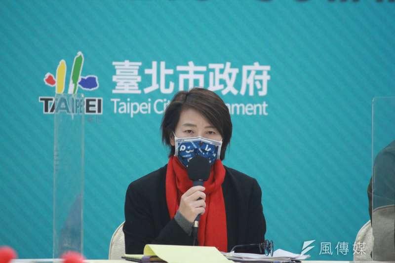 台北市政府今(24)日表示,北市跨年活動將設管制區域。圖為副市長黃珊珊。(方炳超攝)