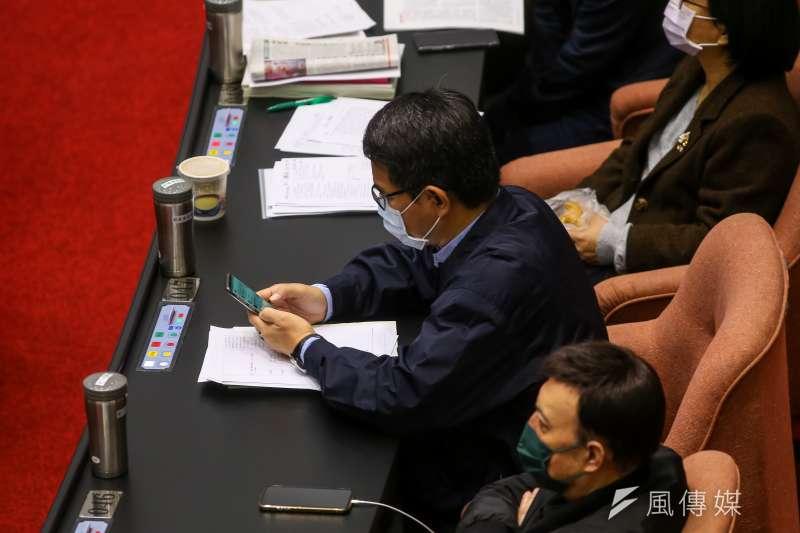 20201224-民進黨立委劉建國24日於院會表決多數未表態。(顏麟宇攝)