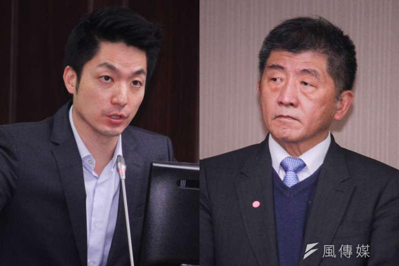 蔣萬安(左)及陳時中(右)被視為藍綠爭奪台北市長的可能人選。(資料照,蔡親傑攝/圖片合成:風傳媒)