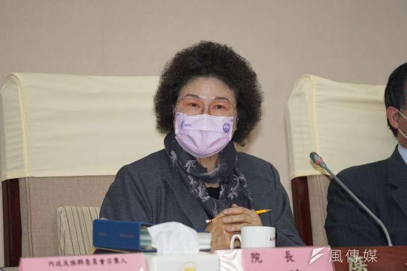 20201228-監察院長陳菊28日出席「行政院巡察後記者會」。(盧逸峰攝)