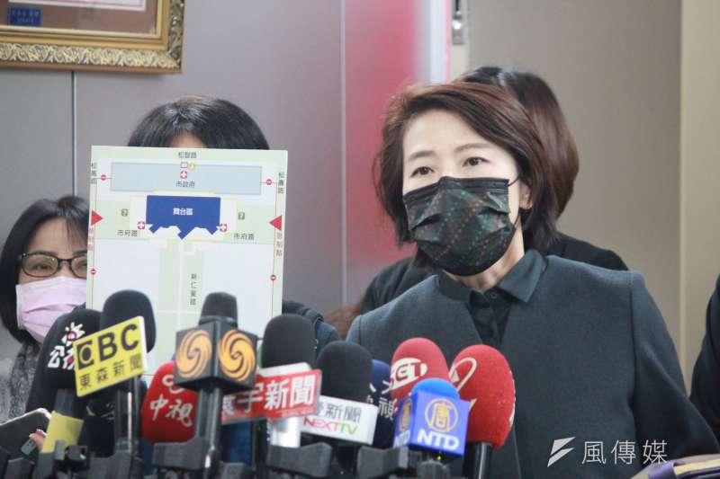 台北市副市長黃珊珊呼籲民眾參加跨年晚會也需做好防疫措施。(方炳超攝)