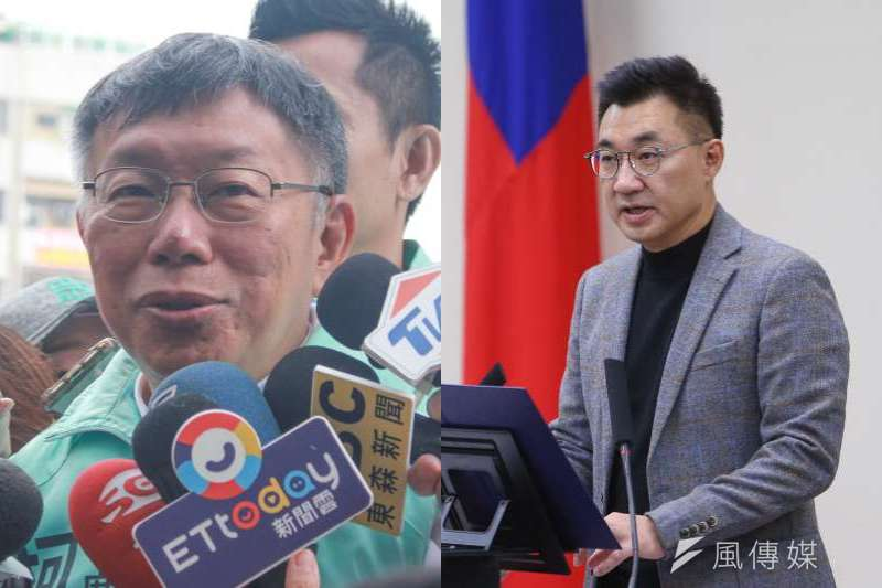 學者丁庭宇警告國民黨,若玩不過台北市長柯文哲,未來恐將被民眾黨逐步蠶食。(資料照,顏麟宇、方炳超攝/合成:風傳媒)