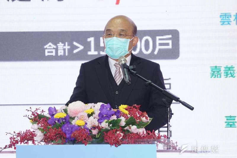 行政院長蘇貞昌30日出席警消社會住宅祈福動土典禮。(盧逸峰攝)