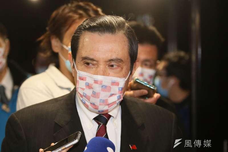 馬英九辦公室表示,馬英九在擔任總統前、後,都明確表示反對萊豬進口。(柯承惠攝)
