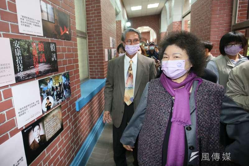 陳菊因器捐案洩密被攻擊,監院同事為她抱不平。(柯承惠攝)