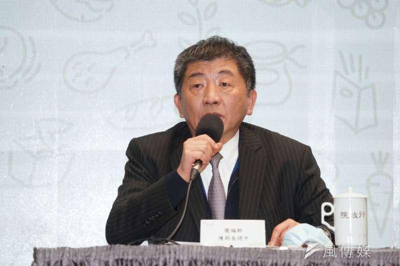 作者認為衛福部長陳時中說話反覆,感嘆當官使人變得無恥。(資料照,盧逸峰攝)