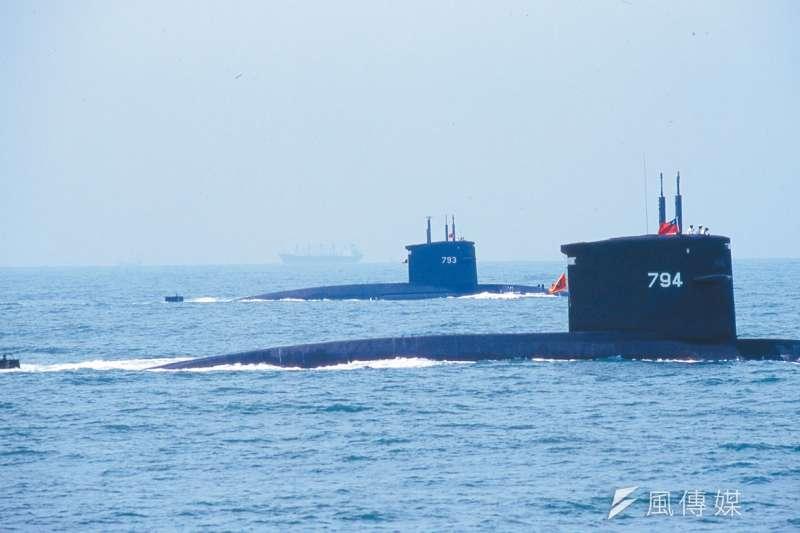 兩艘劍龍級潛艦,15年後仍將是海軍潛艦艦隊戰力。(新新聞資料照)