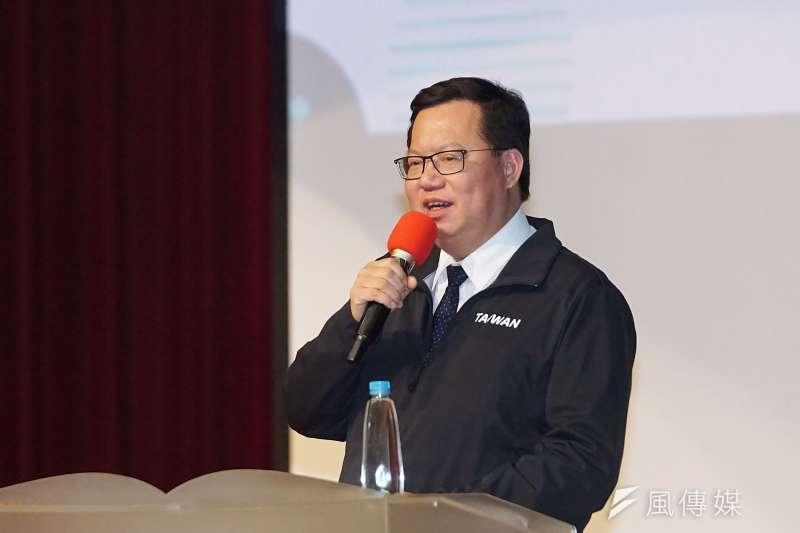 桃園市長鄭文燦將和綠營新世代分享美選後大局。(資料照片,盧逸峰攝)