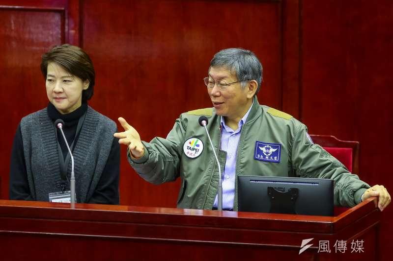 台北市政府今天緊急表示,下午3點將召開防疫升級記者會,將由台北市長柯文哲、台北市副市長黃珊珊親自出席。(資料照,顏麟宇攝)