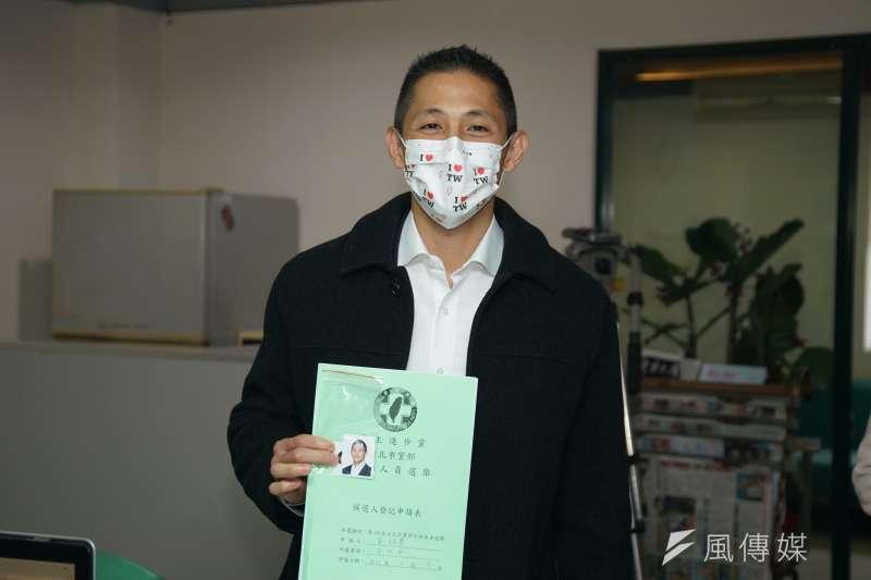 20210107-新境界智庫副執行長吳怡農7日登記參選台北市黨部主委。(盧逸峰攝)