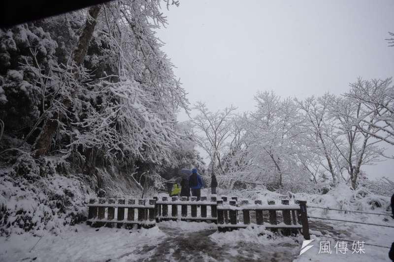 2021年1月8日,太平山下雪了。(風傳媒)