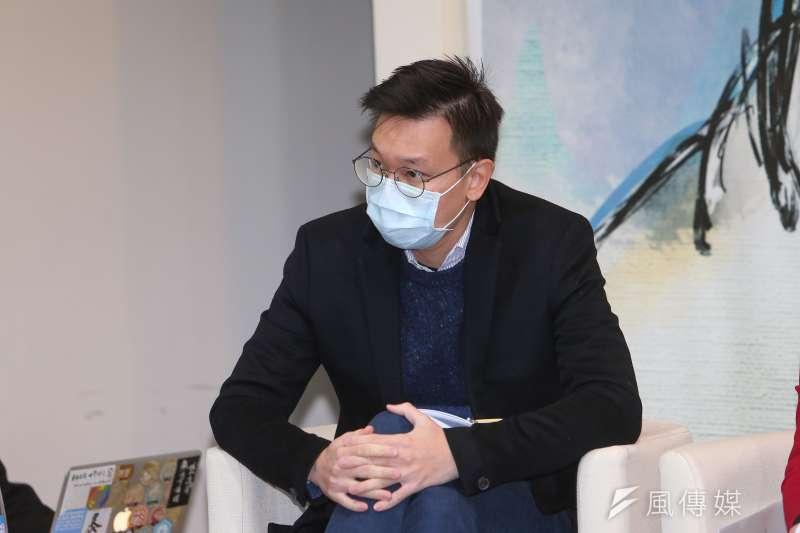 20210109-民進黨副秘書長林飛帆9日出席台灣智庫「民主轉型:從野百合到太陽花的公民參與」李登輝學系列座談。(顏麟宇攝)