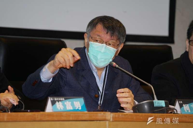 民眾黨主席柯文哲10日出席黨代表大會。(盧逸峰攝)