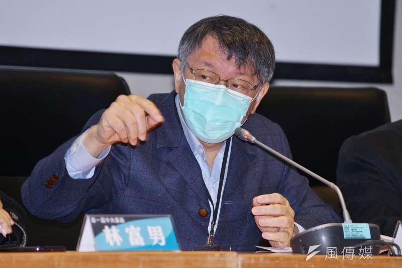 台北市長柯文哲(見圖)回應自行車一日北高宣傳經費問題時表示,人數不同還要求宣傳費一樣,只能說議員邏輯跟智商有問題。(資料照,盧逸峰攝)