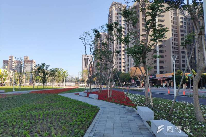 左營計畫區已陸續打通美術北三路與新莊一路,讓市民儘快感受園道工程的好處。(圖/徐炳文攝)