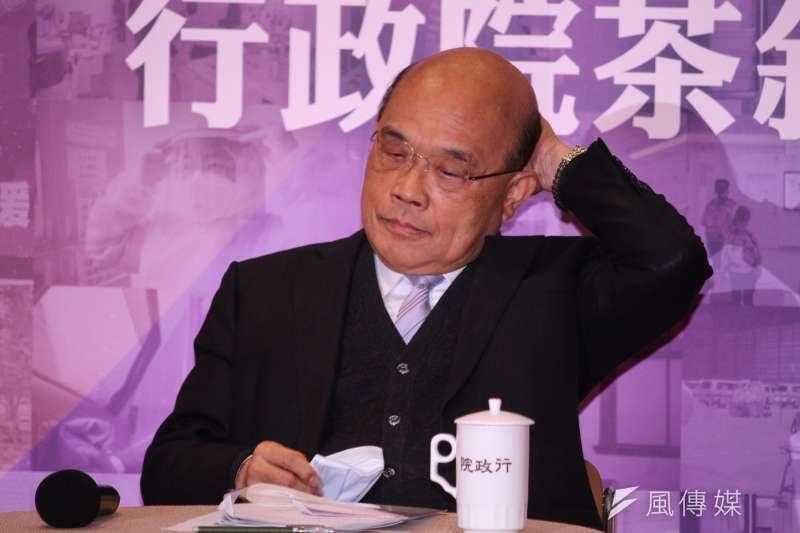 行政院長蘇貞昌(見圖)表示,目前沒有內閣改組打算。(蔡親傑攝)